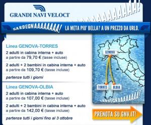 traghetti GNV per la Sardegna